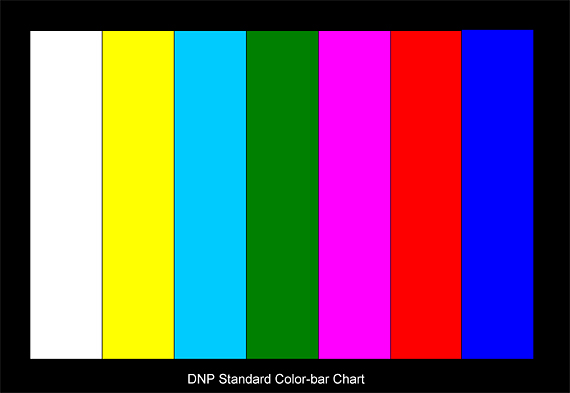 DNP彩条卡 DNP Standard Color-bar Chart